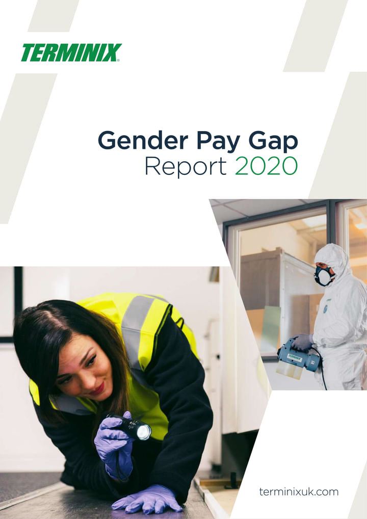 Front cover of the Terminix UK Gender Pay Gap Report